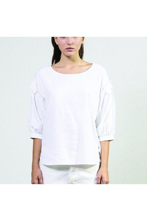 Sack's Sack's Puff Sleeve Top - size L