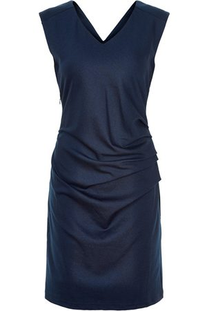 Kaffe India V Neck Sleeveless Dress in Midnight