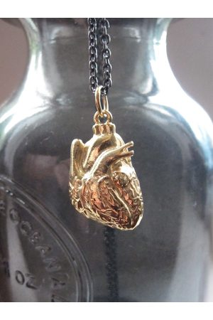 Collard Manson Women Necklaces - Wdts 925 Anatomical Heart Necklace Gold Plated