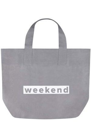 Chalk Studio Linen Tote Bag - Silver 'Weekend