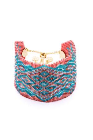 Azuni London Wide Maya Toggle Bracelet in /Green