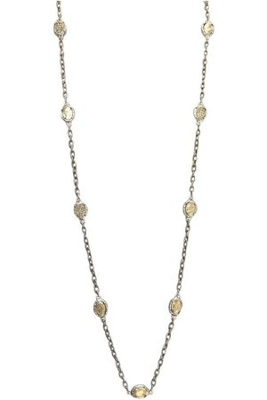 Tat2 N590 Faustina Coin & Crystal Long Necklace in Vintage
