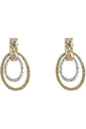 Tat2 E212 Jecna Hammered Ovals & Crystal Earring in