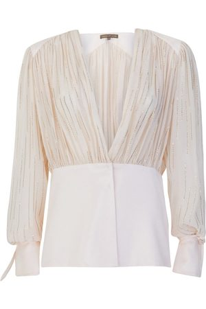 SIMONA CORSELLINI Women Blouses - P19CMBL009 Embellished Blouse in Cream