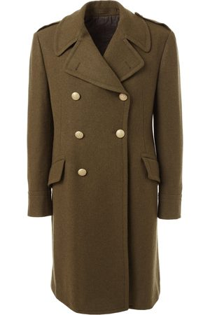 LARDINI Women Summer Jackets - Double Breasted Wool Coat - Khaki