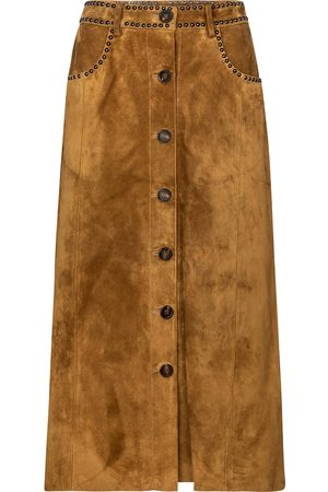 Golden Goose Christine suede midi skirt
