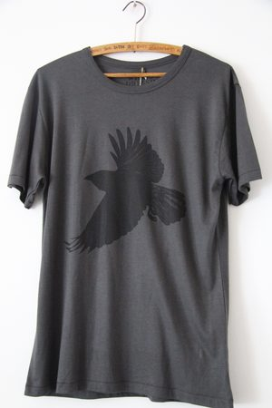 WINDOW DRESSING THE SOUL Crow Jersey T Shirt Charcoal