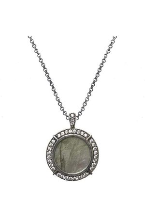 Tat2 Womens N612 Labradorite Necklace in Gold or Vintage