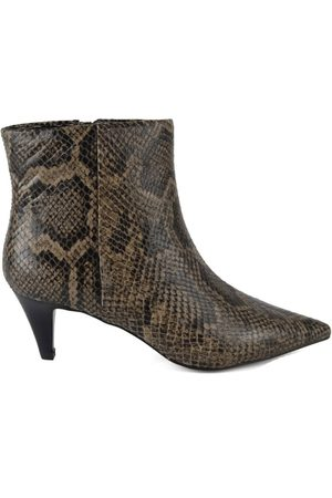 Ash Cameron Python Print Boots - Taupe