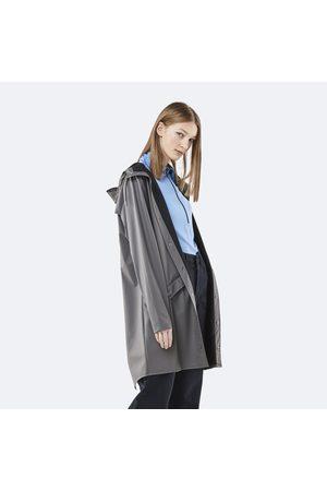 Rains Long Jacket - Charcoal