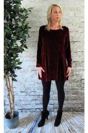 Out Of Xile Silk Velvet Tunic Dress in Quartz