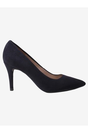 unisa Women Shoes - Navy Court Shoe Pointed Suede