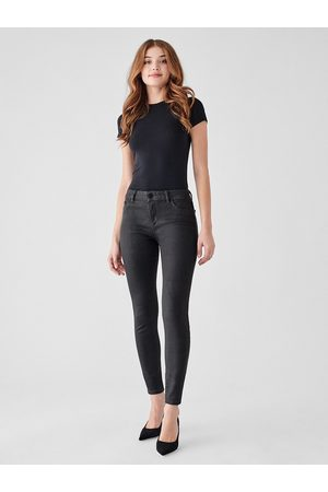 Dl 1961 Florence Ankle Mid-Rise Skinny Jeans - Pewter