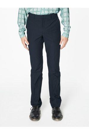 Capsul Men Trousers - Pierre Navy Seersucker Cotton