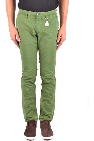 White Siviglia Men Trousers - Trousers in Green