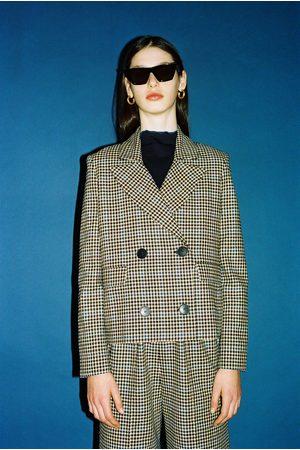 Libertine Libertine Women Blazers - Sprung Blazer Royal Blue Check
