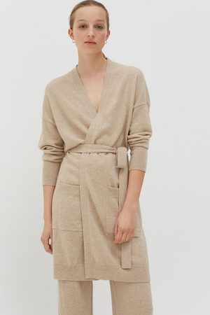 Chinti And Parker Women Cardigans - Chinti & Parker Cashmere Long Line Cardigan - Oatmeal