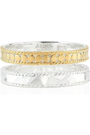 Anna Beck Signature Hammered and Dotted Band Ring /