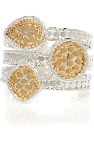 Anna Beck Beaded Triple Ring - Gold &