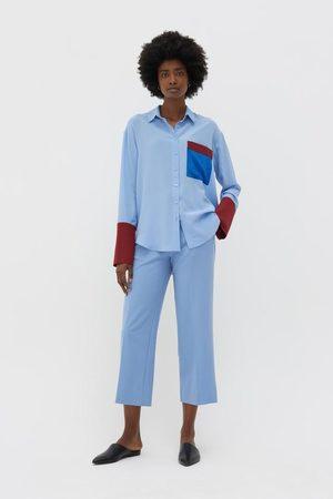 Chinti And Parker Women T-shirts - Chinti & Parker Colour Block Shirt - Sky