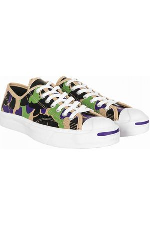 Converse Men Trainers - Jack Purcell Leather Ox Trainers - Camo (Black/Candied Ginger