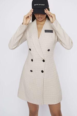 Whyte Studio Women Blazers - THE 'DEACTIVATE' HOUNDSTOOTH BLAZER DRESS