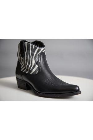 Felmini ZEBRA LEATHER ANKLE BOOTS - LIMITED EDITION
