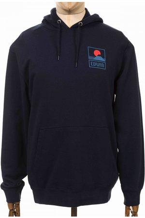 Edwin Men Blazers - Jeans Sunset on Mt Fuji Hooded Sweatshirt - Navy Blazer Colour:
