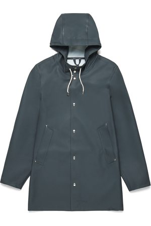 Stutterheim Women Rain Jackets - Stockholm Charcoal Raincoat by
