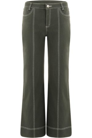 Coster Copenhagen Trousers with Contrast Stitching - Dark