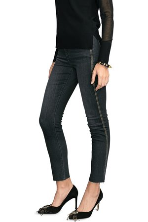 Riani Slim Fit Jeans with Satin Stripes