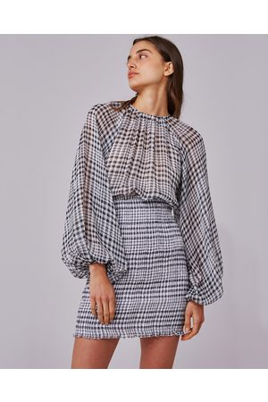 C/meo Collective Stealing Sunshine Checked Dress
