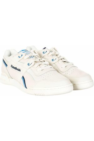 Reebok Workout Plus MU Trainers - Chalk/Collegiate Navy Colour: Chalk