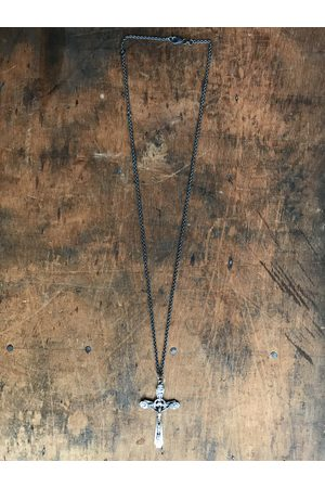 WINDOW DRESSING THE SOUL WDTS Oxidised 925 ornate crucifix necklace