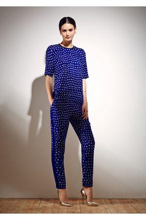Uzma Bozai Women Trousers - Hilda Trousers - Electric Bandhani Silk