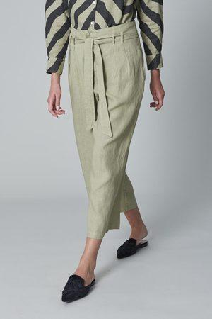 120% Lino Women Trousers - 120% P1W29730253000 High Waist Trouser in