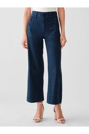 Dl 1961 Hepburn Wide Leg Jeans - Sailor