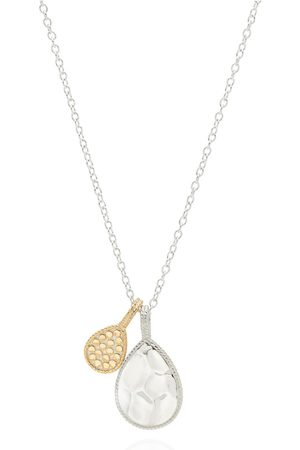 Anna Beck Signature Hammered & Dotted Double Drop Necklace - & Gold