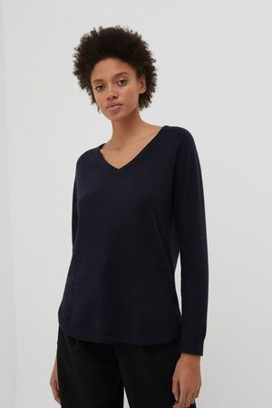 Chinti And Parker Chinti & Parker The V Neck Sweater - Navy