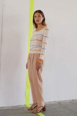 Sita Murt 100503 Lightweight Striped Sweater - Cream/Multi