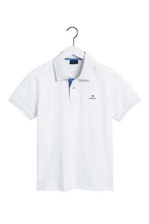 GANT Eggshell Contrast Collar Pique Rugger SS Polo Shirt