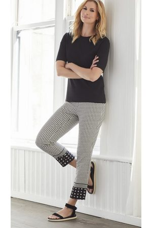 """Up Pants 66841 Techno 25"""" Crop Pull On Trouser - Border"""