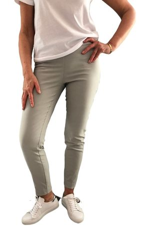 "Up Pants Women Trousers - 65207 Techno 28"" Petal Slit Pull On Trouser - Dove"