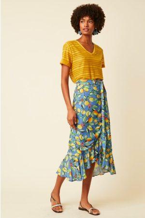 Great Plains Lemon Wrap Frill Skirt