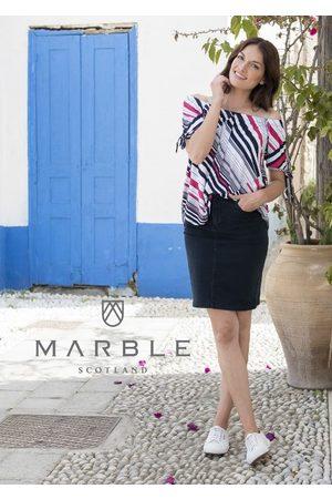 Marble Women Denim Skirts - JEAN SKIRT NAVY