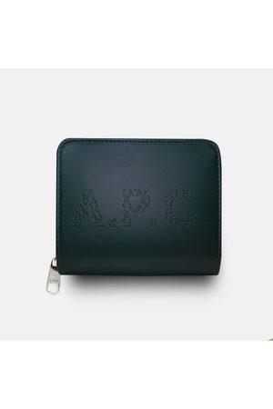 A.P.C. . Emmanuel Letter Logo Wallet - Vert Fonce