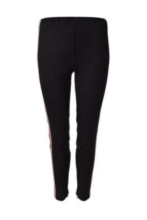 Luisa Cerano Ankle Zip Trousers With Stripe