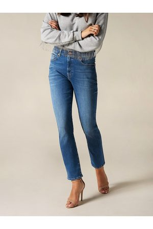 7 for all Mankind Relaxed Skinny Slim Illusion Jeans Mid
