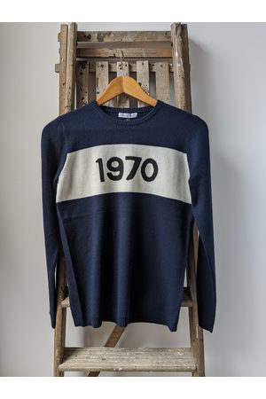 BELLA FREUD 1970 Navy Cashmere Jumper