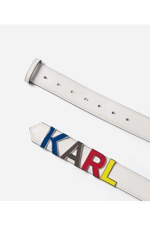 Karl Lagerfeld K/KARL BELT WITH METAL LETTERS
